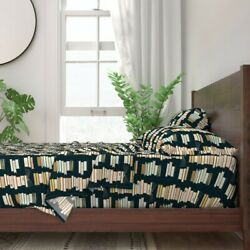 Books Illustration Cartoon Reading 100 Cotton Sateen Sheet Set By Roostery