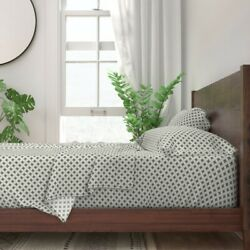 Geo Cross Cream Natural 100 Cotton Sateen Sheet Set By Roostery