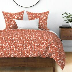 Fall Autumn Kids Forest Woodland Flow Animals Sateen Duvet Cover By Roostery