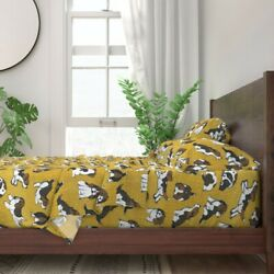 Beagle Dog Novelty Pet Puppy Beagles 100 Cotton Sateen Sheet Set By Roostery
