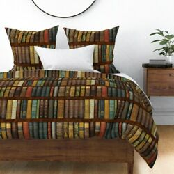 Bookcase Photographic Victorian Old World Books Sateen Duvet Cover By Roostery