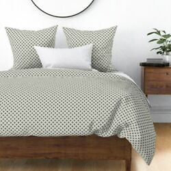 Geo Cross Cream Natural Sateen Duvet Cover By Roostery