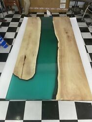 Customized Epoxy River Custom Resin Epoxy Dining Table Home Deco Made To Order