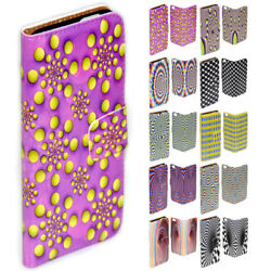 For Nokia Series Optical Illusion Print Theme Wallet Mobile Phone Case Cover 2