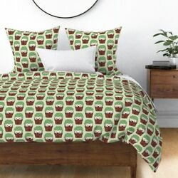 Hedgehog Cactus Cacti Hipster Pots Cute Animals Sateen Duvet Cover By Roostery