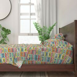 Retro Cassette Tape Vintage Inspired 100 Cotton Sateen Sheet Set By Roostery