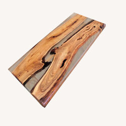 Mazel Tree And Transparent Epoxy Resin, Designed The Of Wood Decor Made To Order