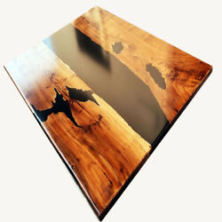 Dining Table Kitchen Table Epoxy River Walnut Resin Bespoke Decors Made To Order