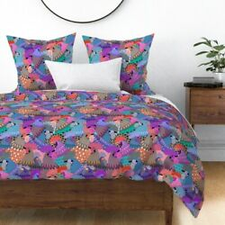 Chicken Rooster Bird Feathers Fowl State Fair Sateen Duvet Cover By Roostery