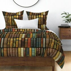 Books Literary Shelves Nerd Reading Victorian Sateen Duvet Cover By Roostery