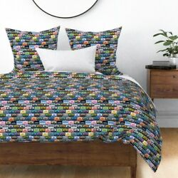 Cassette Tape Music 1980s 1990s Retro Hip Hop 80s Sateen Duvet Cover By Roostery