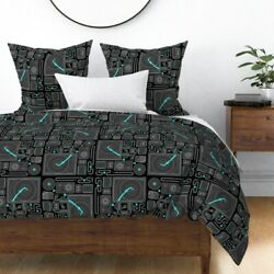 70 Stereo Geek Sterophonic Retro Vintage Cassette Sateen Duvet Cover By Roostery