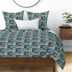 Cassette Tapes Retro Paint 90s Music Vintage Sateen Duvet Cover By Roostery