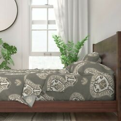 Medallion Coordinate 100 Cotton Sateen Sheet Set By Roostery