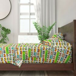 Train Kids Railroad Vintage Toy Trains 100 Cotton Sateen Sheet Set By Roostery