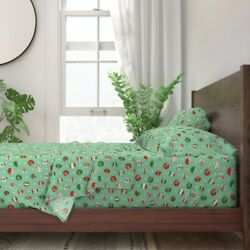 Atomic Vintage Retro Christmas 100 Cotton Sateen Sheet Set By Roostery