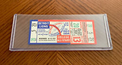 1954 Detroit Lions Vs College All-stars Full Ticket 8/13/54 Soldiers' Field