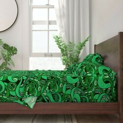 Tentacle Arms Suckers Sea Monster Ocean 100 Cotton Sateen Sheet Set By Roostery