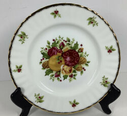 Royal Albert Old Country Roses Holiday Salad/dessert Plate 2006