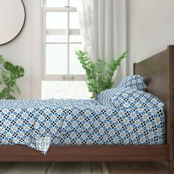 Titans Tennesee Coordinate Geometric 100 Cotton Sateen Sheet Set By Roostery