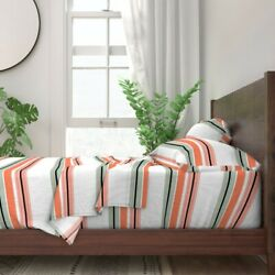 Horizontal Stripes Stripes Coordinate 100 Cotton Sateen Sheet Set By Roostery