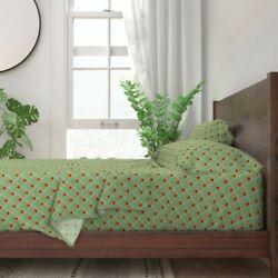 Coordinate Poppy Flow Plaid Scales 100 Cotton Sateen Sheet Set By Roostery