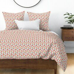 Chili Pepper Pepper Hot Pepper Mexican Triangles Sateen Duvet Cover By Roostery