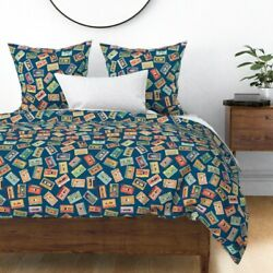 Music 80s Cassette Tape 90s Record Player Sateen Duvet Cover By Roostery