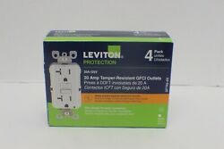 Leviton M42-gftr2-4w Gfi Gfci 20a Tamper Resistant White 4-pack - New - Sealed