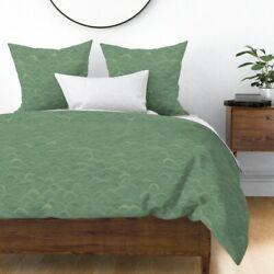 Waves Illustration Nature Ocean Sea Coordinate Sateen Duvet Cover By Roostery