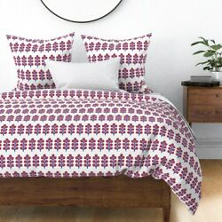 Money Tree Good Fortune Nordic Scandi Sateen Duvet Cover By Roostery