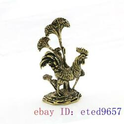Chicken Carved Gifts Small Ornaments Jewelry Handmade Brass