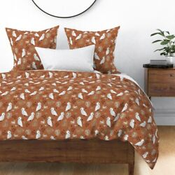 Autumn Fall Cockatoo Birds Jungle Kids Boys Sateen Duvet Cover By Roostery