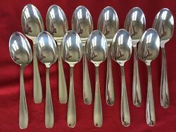 Dax Christofle 12 Salad Entremet Cheese Spoons Set France Silverplated 6 6/8