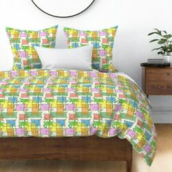 Bamboo Tiki Tropical Retro Cartoon Kitschy Sateen Duvet Cover By Roostery