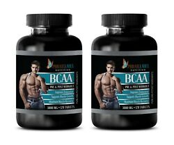 Amino Acids Complex - Bcaa 3000mg - Pre Workout For Women - 2 Bottles