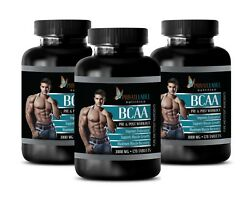 Amino Complete - Bcaa 3000mg - Pre Workout Supplements - 3 Bottles