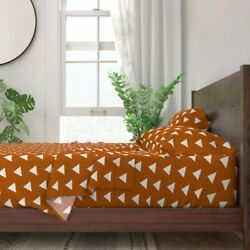 Triangles Geometric Modern Coordinate 100 Cotton Sateen Sheet Set By Roostery