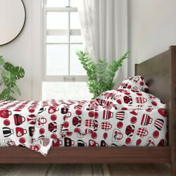 Bowling Bag Red And Black Sport Retro 100 Cotton Sateen Sheet Set By Roostery