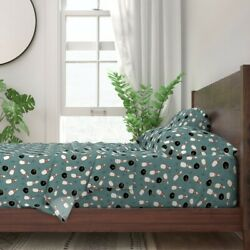 Bowling Ball Pins Asterisk Teal Hand 100 Cotton Sateen Sheet Set By Roostery