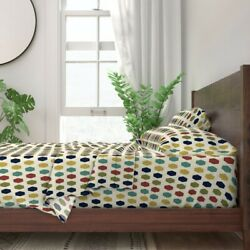 Coordinate Midcentury Modern Geometric 100 Cotton Sateen Sheet Set By Roostery