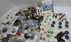 Large Lot 7 Lbs Vintage Estate Buttons Sewing Collectible Assorted Some Cards