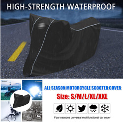 Xxl Motorcycle Scooter Waterproof Cover All Season Reflective Stripe Anti-theft