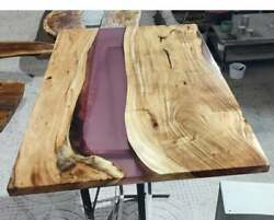 Wooden Epoxy Table Custom Live Edge Epoxy Resin Conference Table Made To Order
