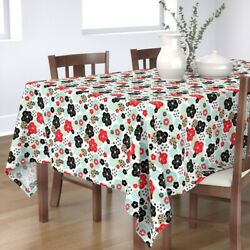 Tablecloth Japan Japanese China Chinese Cherry Blossom Asian Cotton Sateen