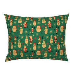 Christmas Figure Santa Snowman Elf Soldier Blow Mold Pillow Sham By Roostery