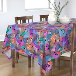 Tablecloth Chicken Rooster Bird Feathers Fowl State Fair Carnival Cotton Sateen
