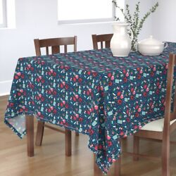 Tablecloth Baking Christmas Cookie Holiday Kitchen Decor Cotton Sateen