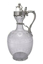 Richards And Brown Edward Charles Brown - Aesthetic Movement Silver Claret Jug