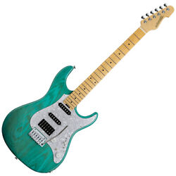179349 Edwards E-snapper-as/m Turquoise Electric Guitar